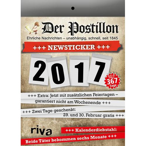 Der Postillon Newsticker Tagesabreißkalender 2017