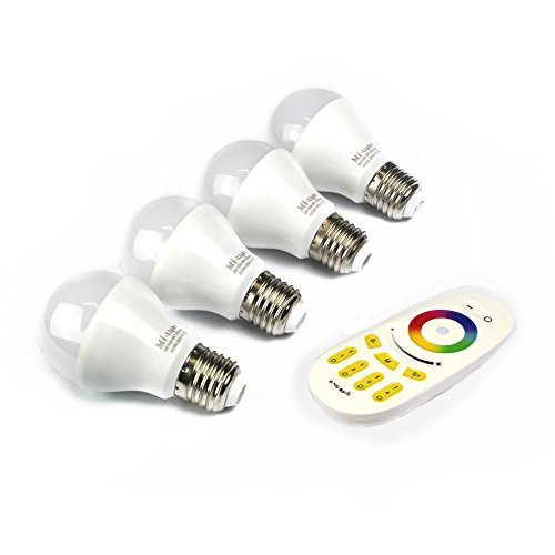 4 LED-Lampen-Birnen mit Fernbedienung von Mi-Light